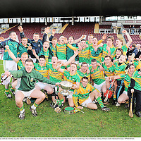 6 November 2011; The Gort team celebrate with the cup after victory over Clarinbridge. Galway County Senior Hurling Championship Final, Gort v Clarinbridge, Pearse Stadium, Galway. Picture credit: Diarmuid Greene / SPORTSFILE