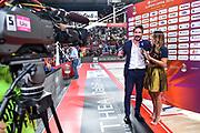 Giulia Cicchine', Gianmarco Pozzecco<br /> Vanoli Cremona - Banco di Sardegna Dinamo Sassari<br /> Semifinale Zurich Connect Supercoppa LBA 2019<br /> Bari, 21/09/2019<br /> Foto L.Canu / Ciamillo-Castoria