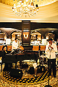 Blue Divas jazz band play at the Colonial Cafe, Majestic Hotel, Kuala Lumpur