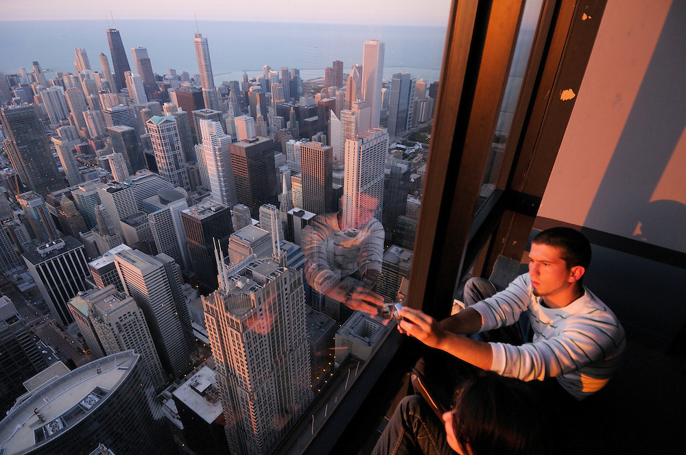 Chicago from above, view from Willis Tower, Chicago, Illinois, USA