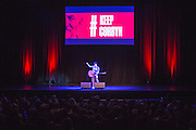 Musician Grace Petrie performing at the #KeepCorbyn event, part of the #JC4PM tour a fringe event orgainised as part of the TUC 2016 by PCS. Brighton, UK.