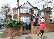 © Licensed to London News Pictures. 08/04/2013. London, UK The North Korean Embassy in Ealing in West London today, 8th April 2013. The Embassy is based in a 1920's detached house in a residential area. Tensions are high between countries around the world and the North Koreans. Photo credit : Stephen Simpson/LNP