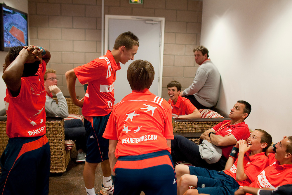 Roland Garros. Paris, France. June 1st 2012.A day with the ball boys..Break time