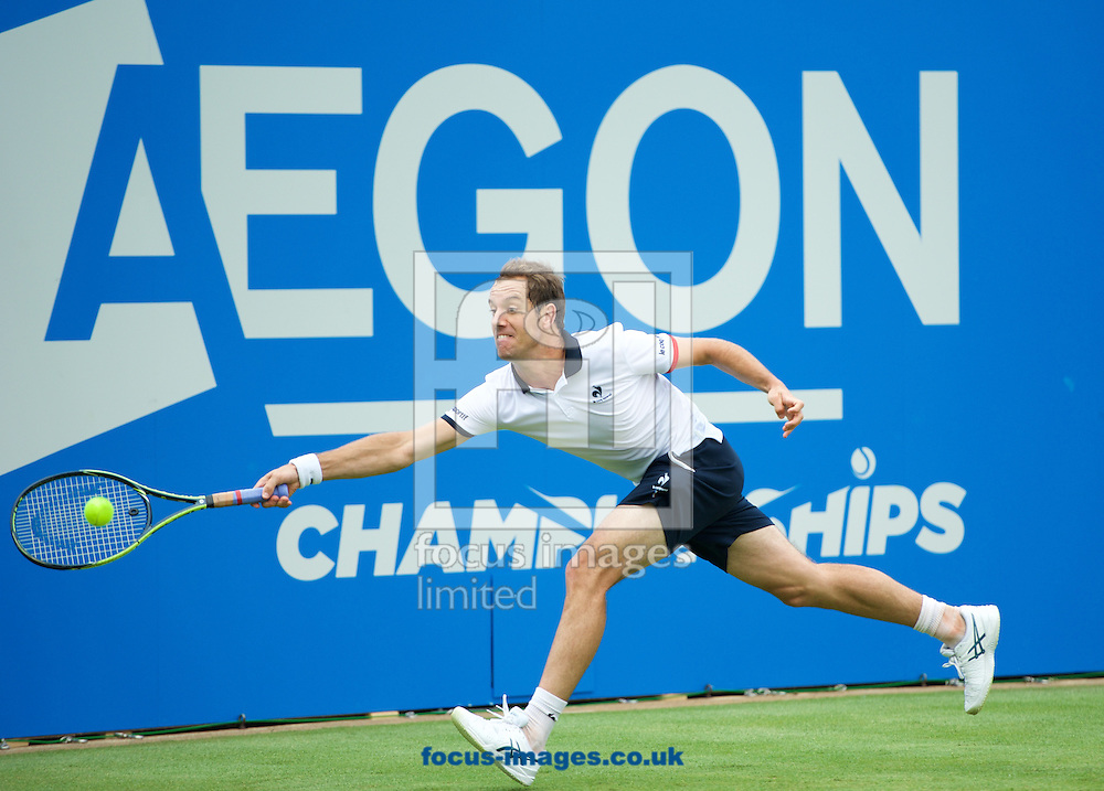 Richard Gasquet (FRA) during his first round match against Simone Bolelli (ITA) in the Aegon Championships at the Queen's Club, West Kensington<br /> Picture by Alan Stanford/Focus Images Ltd +44 7915 056117<br /> 15/06/2015