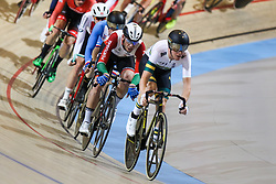 March 2, 2018 - Apeldoorn, Netherlands - Cameron Meyer of Australia and Joao Matias of Portugal compete during the men's points race final during the UCI Track Cycling World Championships in Apeldoorn on March 2, 2018. (Credit Image: © Foto Olimpik/NurPhoto via ZUMA Press)