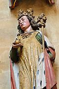 Albrechtsburg, Dom, Stifterfigur, Meißen, Sachsen, Deutschland. .Albrechtsburg, cathedral, figure of founder, Meissen, Saxony, Germany.
