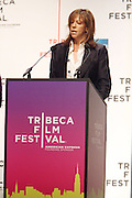 Jane Rosenthal at The 2009 Tribeca Film Festival Opening Press Conference Kick-Off held at The Borough of Manhattan Community College in New york City on April 21, 2009