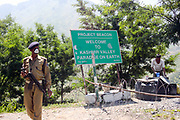 Security Checkpoint, Kashmir and Jammu border, Northern India 2009-07-13.<br />