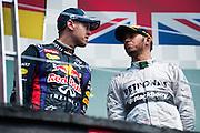 June 7-9, 2013 : Canadian Grand Prix. Sebastian Vettel, Red Bull/Renault, Lewis Hamilton, Mercedes , RB9 , F1 W04