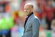 Exeter City manager Paul Tisdale during the Sky Bet League 2 match between Exeter City and Morecambe at St James' Park, Exeter, England on 30 April 2016. Photo by Graham Hunt.