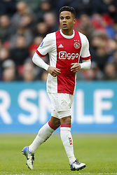 Justin Kluivert of Ajax during the Dutch Eredivisie match between Ajax Amsterdam and FC Twente Enschede at the Amsterdam Arena on February 11, 2018 in Amsterdam, The Netherlands