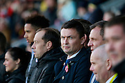 Barnsley manager Paul Heckingbottom during the EFL Sky Bet Championship match between Burton Albion and Barnsley at the Pirelli Stadium, Burton upon Trent, England on 5 November 2016. Photo by Richard Holmes.