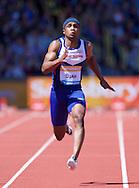 Chijindu Ujah GBR competing in the 100m heat<br /> during the IAAF  Diamond League Sainsbury's Birmingham Grand Prix at Alexander Stadium, Birmingham<br /> Picture by Alan Stanford/Focus Images Ltd +44 7915 056117<br /> 07/06/2015