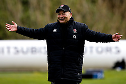 England Head Coach Eddie Jones smiles - Mandatory by-line: Robbie Stephenson/JMP - 08/03/2019 - RUGBY - England - Training session ahead of Guinness Six Nations match against Italy