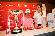 SINGAPORE - MARCH 04: Michelle Wie signing autographs during her press conference at the HSBC Women's World Championship 2018 at Sentosa Golf Club, Singapore on March 04, 2018.<br /> .<br /> .<br /> .<br /> (Photo by: Naratip Golf Srisupab/SEALs Sports Images)<br /> .<br /> Any image use must include a mandatory credit line adjacent to the content which should read: Naratip Golf Srisupab/SEALs Sports Images