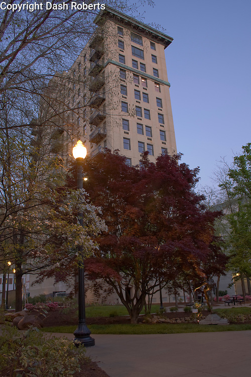 The Holston Building from Krutch Park in downtown Knoxville, Tennessee.