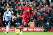 Liverpool forward Divock Origi (27) during the Premier League match between Liverpool and Brighton and Hove Albion at Anfield, Liverpool, England on 30 November 2019.