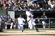 CHICAGO - APRIL 01:  Jeff Keppinger #7 of the Chicago White Sox bats against the Kansas City Royals on April 1, 2013 at U.S. Cellular Field in Chicago, Illinois.  The White Sox defeated the Royals 1-0.  (Photo by Ron Vesely)   Subject: