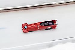 16.12.2017, Olympia Eisbahn, Igls, AUT, BMW IBSF Weltcup und EM, Igls, Zweierbob Herren, 1. Lauf, im Bild Markus Treichl und Ekemini Bassey (AUT) // Markus Treichl and Ekemini Bassey of Austria+ during 1st run of two-man Bobsleigh competition of BMW IBSF World Cup and European Championship at the Olympia Eisbahn in Igls, Austria on 2017/12/16. EXPA Pictures © 2017, PhotoCredit: EXPA/ Johann Groder