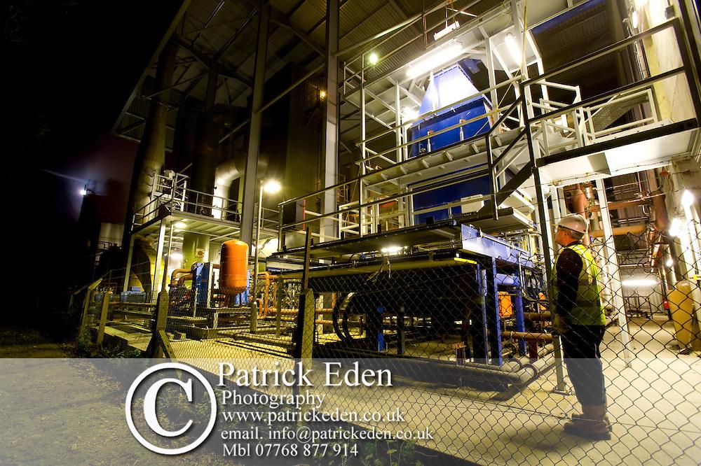 Waste burning Power Station.,Isle of Wight, Newport, Dusk