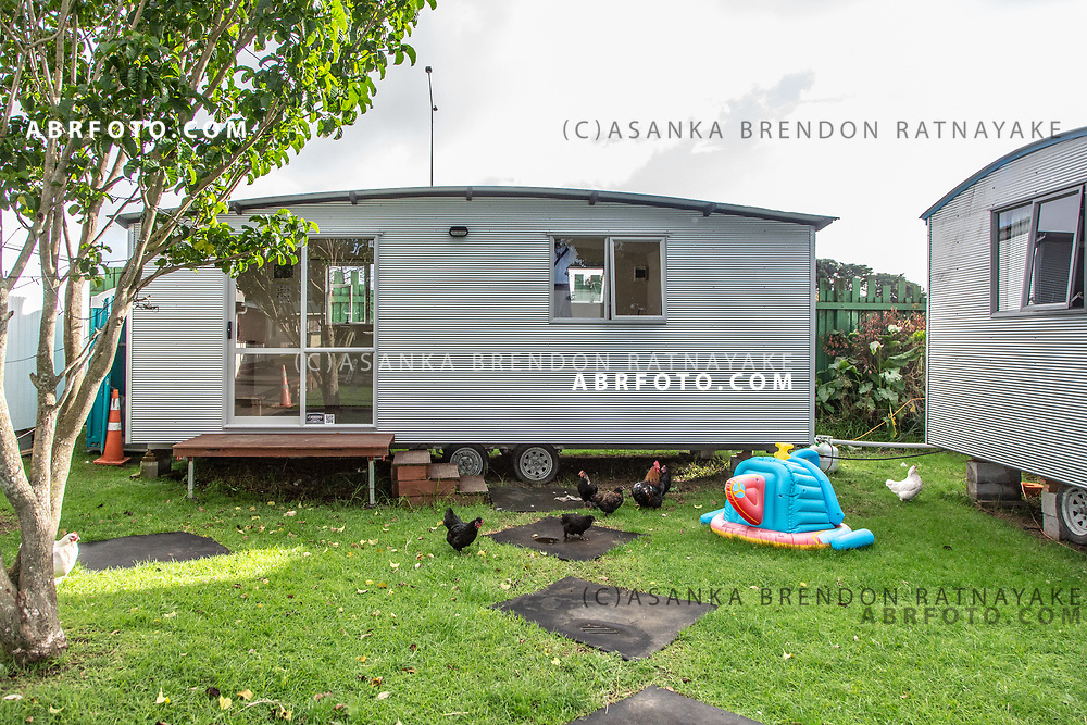 Cabins used for emergency housing for the homeless at the 'Te Puea Marae' in South Auckland on the 5th of June 2018. The Te Puea Marae in Auckland is a meeting place for the Maori community in the South Auckland region, over the past few years the Marae has assisted the homeless in with shelter, food and basic furniture as well as being an intermediary between the homeless and govermental social services.  Asanka Brendon Ratnayake for The New York Times.
