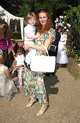 ANGELA RADCLIFF and her son MAXIMUS RADCLIFF at a children's party to celebrate the launch of the new Baby Dior store in London - held in Eaton Square, London on 8th June 2005.<br /><br />NON EXCLUSIVE - WORLD RIGHTS