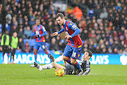 Crystal Palace's James McArthur wins the ball during the Barclays Premier League match between Crystal Palace and Chelsea at Selhurst Park, London, England on 3 January 2016. Photo by Shane Healey.