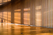 bright sunlit corridor at the National Art Center, Tokyo in roppongi