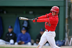 15 February 2007: Collin Salzenstein.  Indiana State Sycamores gave up the first game of the double-header by a score of 16-6 to the Illinois State Redbirds at Redbird Field on the campus of Illinois State University in Normal Illinois.