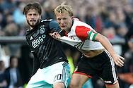 23-10-2016: Voetbal: Feyenoord v Ajax: Rotterdam<br /> <br /> (L-R) Ajax speler Lasse Schone, Feyenoord speler Dirk Kuyt tijdens het Eredivsie duel tussen Feyenoord en Ajax op 23 oktober in stadion Feijenoord (de Kuip) tijdens speelronde 10<br /> <br /> Eredivisie - Seizoen 2016 / 2017<br /> <br /> Foto: Gertjan Kooij