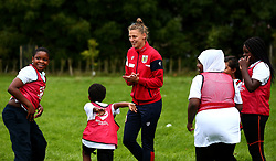Bristol Sport and Bristol Energy launch their partnership at Millpond School with help from Yana Daniels of Bristol City Women- Mandatory by-line: Robbie Stephenson/JMP - 09/10/2017 - SPORT - Millpond School - Bristol, England - Bristol Sport and Bristol Energy Partnership Launch