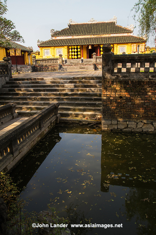"""Palace of Longevity"" or Truong Sanh Residence was the home of King Tu Duc's mother, Empress Tu Du of the Nguyen Dynasty within the Hue Citadel palace grounds. The residence contains decorative rock formations and a colorful palace gate."