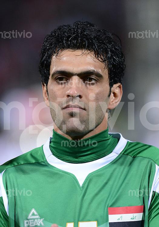 Fussball International Gulf Cup 2013 in Bahrain    Halbfinale     15.01.2013 Irak - Bahrain         Ali Hussaein Erhaima (Irak)