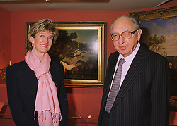 LORD WEINSTOCK and his daughter in law MRS SIMON WEINSTOCK, at a reception in London on 10th June 1998.MIE 86