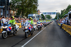 Police motor bikes after the Arnhem - Veenendaal Classic at the finish, Veenendaal, Utrecht, The Netherlands, 21 August 2015.<br /> Photo: Thomas van Bracht / PelotonPhotos.com