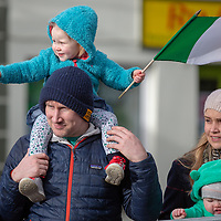 Andy and Heidi Warner from O'Callaghan's Mills watching the Tulla St Patrick's Day Parade