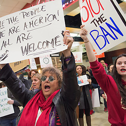 012817 - Immigration Ban Protest at Reno-Tahoe International Airport for The Nevada Independent