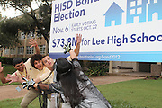 Vote Early Zombie at Lee High School