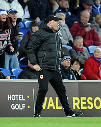 An animated Russell Slade, manager of Cardiff City - Photo mandatory by-line: Paul Knight/JMP - Mobile: 07966 386802 - 20/12/2014 - SPORT - Football - Cardiff - Cardiff City Stadium - Cardiff City v Brentford - Sky Bet Championship