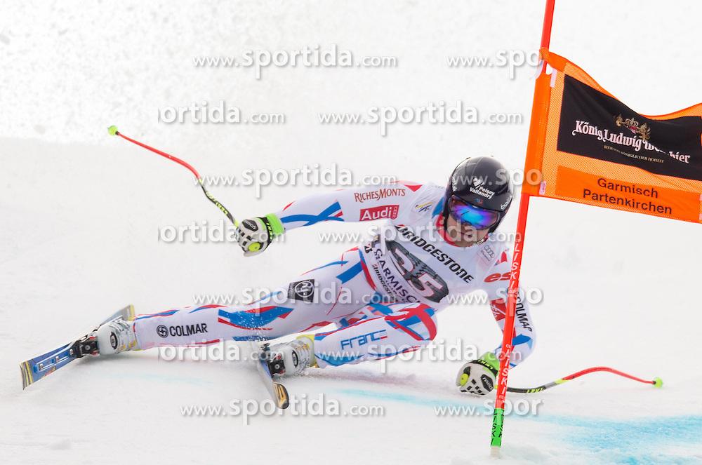 28.01.2016, Kandahar, Garmisch Partenkirchen, GER, FIS Weltcup Ski Alpin, Abfahrt, Herren, 1. Training, im Bild David Poisson (FRA) // David Poisson of France competes in his 1st training run for the men's Downhill of Garmisch FIS Ski Alpine World Cup at the Kandahar course in Garmisch Partenkirchen, Germany on 2016/01/28. EXPA Pictures © 2016, PhotoCredit: EXPA/ Johann Groder