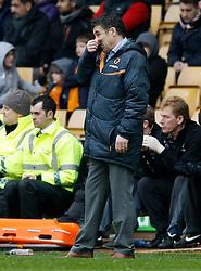 Wolves manager Dean Saunders looking dejected- Photo mandatory by-line: Matt Bunn/JMP  - Tel: Mobile:07966 386802 13/04/2013 - Wolverhampton Wanderers v Huddersfield Town - SPORT - FOOTBALL - Championship -  Wolverhampton - Molinuex-