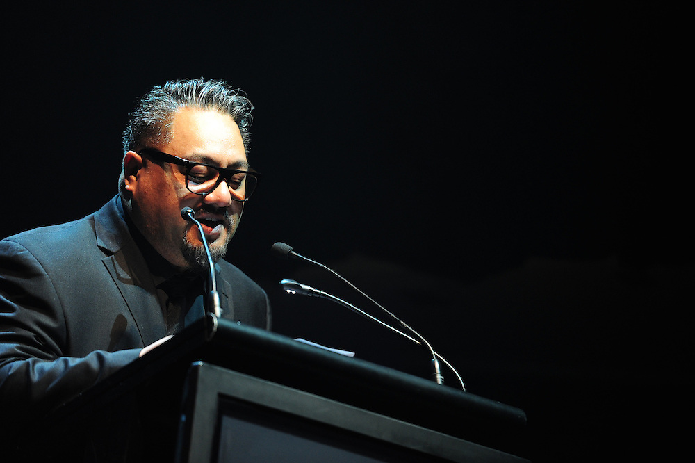 Che Fu on stage at the APRA Silver Scroll Awards 2012. Auckland Town Hall. 13 September 2012.