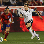 Heather O'Reilly, USA, in action during the U.S. Women Vs Korea Republic friendly soccer match at Red Bull Arena, Harrison, New Jersey. USA. 20th June 2013. Photo Tim Clayton