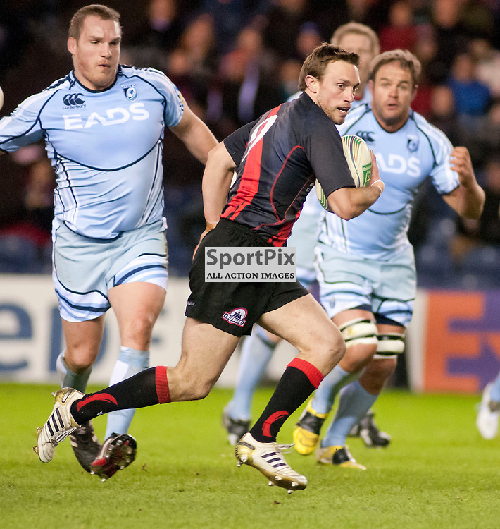 Mike Blair makes a break, Edinburgh Rugby v Cardiff Blues, Heineken Cup