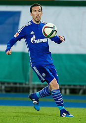 24.01.2015, Ernst Happel Stadion, Wien, AUT, FS Vorbereitung, Fußball Testspiel, SK Rapid Wien vs FC Schalke 04, im Bild Christian Fuchs (FC Schalke 04) // during a international football frindly match between SK Rapid Vienna and FC Schalke 04 at the Ernst Happel Stadium, Vienna, Austria on 2015/01/24. EXPA Pictures © 2015, PhotoCredit: EXPA/ Michael Gruber