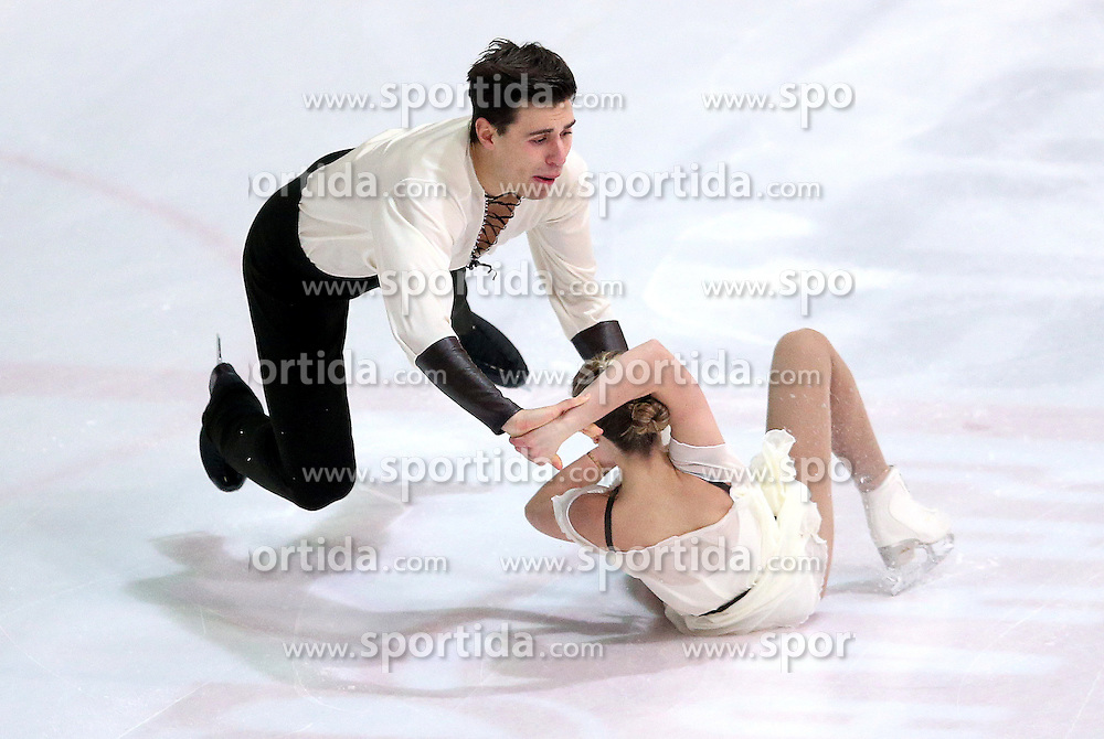 04.12.2015, Dom Sportova, Zagreb, CRO, ISU, Golden Spin of Zagreb, freies Programm, Paare, im Bild Alexandra Iovanna - Filippo Ambrosini, Italy. // during the 48th Golden Spin of Zagreb 2015 doubles Free Program of ISU at the Dom Sportova in Zagreb, Croatia on 2015/12/04. EXPA Pictures &copy; 2015, PhotoCredit: EXPA/ Pixsell/ Igor Kralj<br /> <br /> *****ATTENTION - for AUT, SLO, SUI, SWE, ITA, FRA only*****