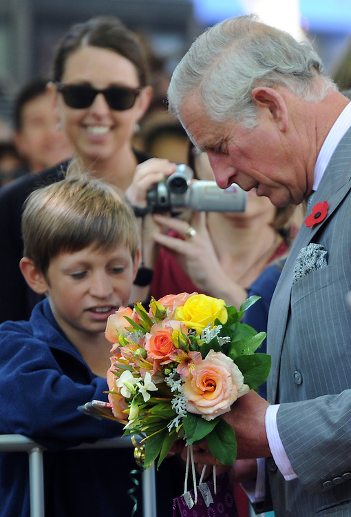 Prince Charles, Prince of Wales on his public walkabout in Nelson, New Zealand, Saturday, November 07, 2015. Credit:SNPA / Ross Setford