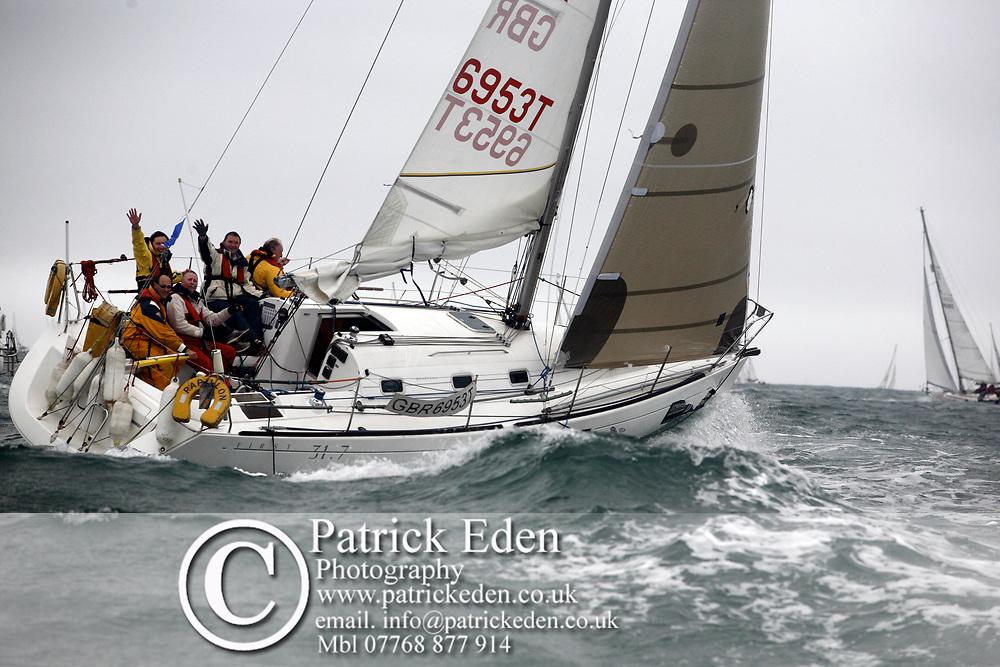 GBR 6953T, Rapillon, J P Morgan Round the Island Race, 2011, Cowe, Isle of Wight, UK, Photographs © Patrick Eden Sports Photography