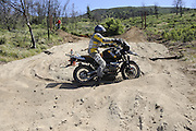 rider navigating sand pit during day 1 of 2010 Rawhyde Adventure Rider Challenge