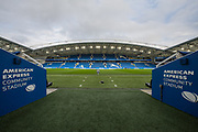 General view of the American Express Community Stadium ahead of the FA Women's Super League match between Brighton and Hove Albion Women and Birmingham City Women at the American Express Community Stadium, Brighton and Hove, England on 17 November 2019.